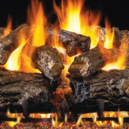 Enjoy a gas fireplace.