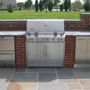 Start enjoying the outdoors more with a custom designed kitchen built by Pemberton Appliance! Call us today!