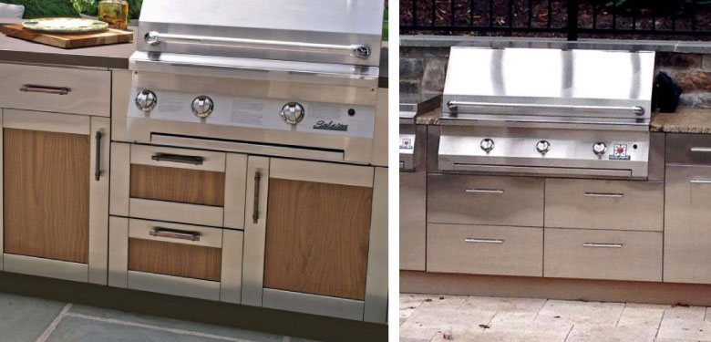 Danver Stainless Cabinetry will look great for years to come! Have your outdoor kitchen built with Danver Strainless Cabinetry!