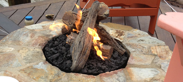Pemberton Appliance can install your new patio gas firepit.