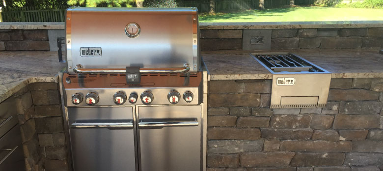 Weber built in grills make a great outdoor kitchen! Call us today
