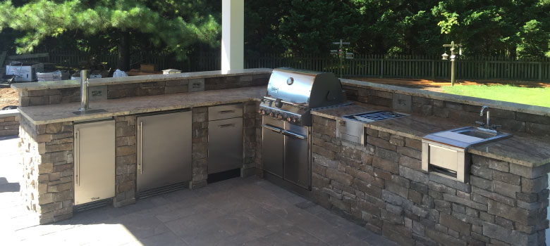 Custom outdoor kitchens will help you enjoy the outdoors longer every year!